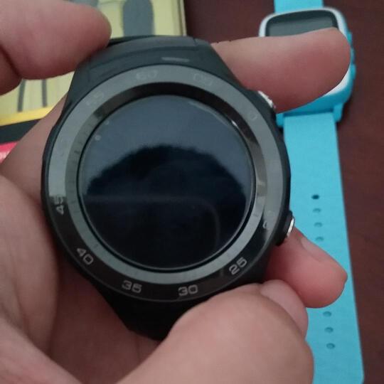 送壕礼/HUAWEI WATCH 2 华为第二代智能运动手表 蓝牙2018版4G通话GPS轨迹NFC 碳晶黑蓝牙版 官方标配 晒单图