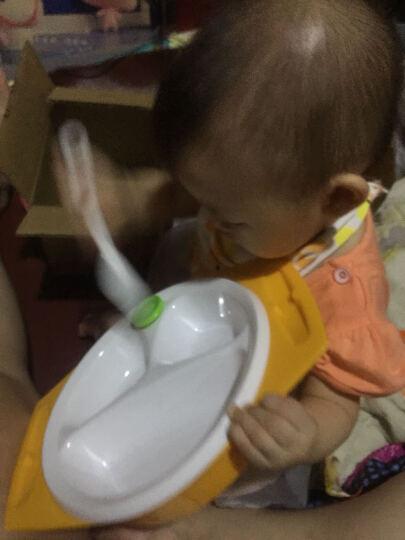 日康儿童餐具套装双耳碗餐盘水杯叉勺套装组合五件套RK-C1001(绿色) 晒单图