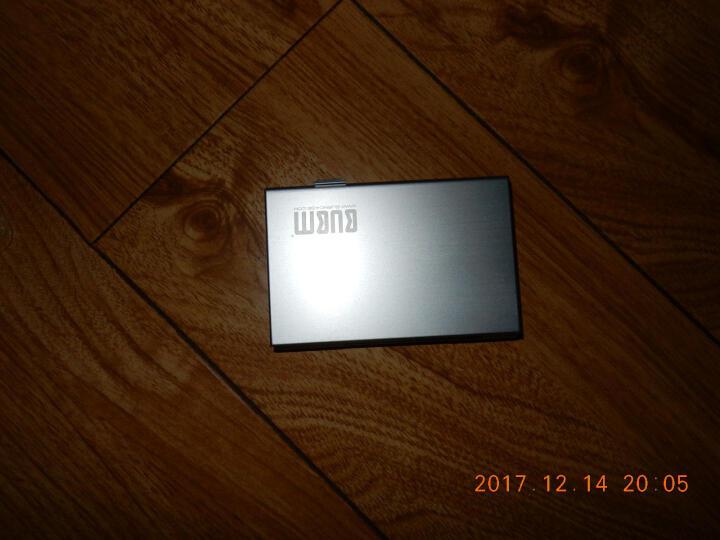 bubm存储卡盒SD卡旅行整理盒CF卡手机内存卡TF卡SIM卡铝合金防静电盒子单反相机卡包 S811 黑色 晒单图