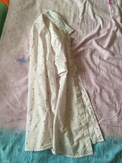 阿仕顿 夏季男款活力短袖衬衫 休闲修身旅游百搭短衬 红色 175/L A15217514 晒单图