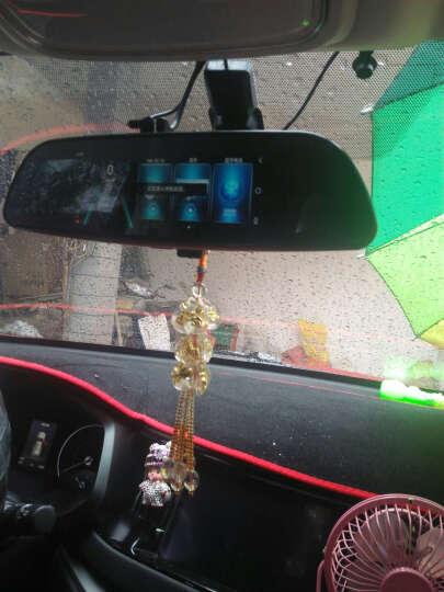 丁威特 高清智能声控导航仪行车记录仪双镜头电子狗蓝牙wifi升级无光夜视停车监控倒车影像后视镜一体机 套餐八  7 英寸双镜头前后双录按键版无导航电子狗 晒单图