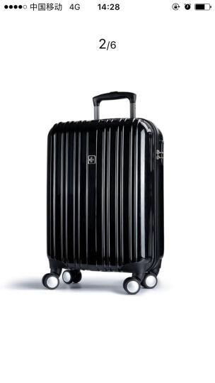 瑞士十字SWISSWIN 拉杆箱 男女商务行李箱ABS+PC大容量旅行箱万向轮轻便登机箱 黑色 20英寸(登机箱) 晒单图