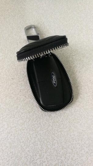 麦车饰 汽车钥匙包钥匙扣钥匙链挂件 适用于大众奔驰宝马奥迪路虎日产别克本田福特丰田钥匙套 压纹款-红色 晒单图