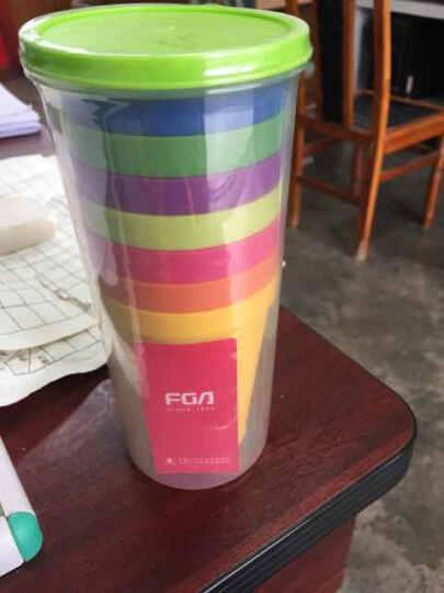 富光彩虹饮料杯8只装 柠檬果汁杯冷水杯套装 晒单图