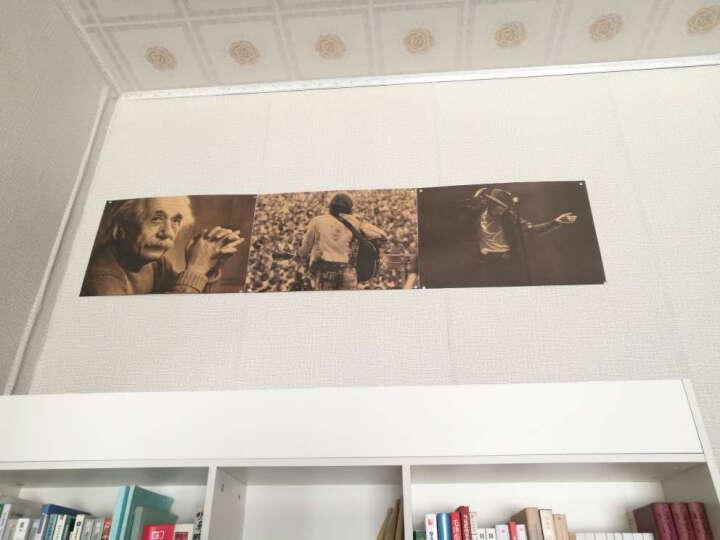 想象力比知识更重要爱因斯坦画像复古牛皮纸装饰画室内酒吧画芯海报墙纸壁画宿舍复古贴纸 E502爱因斯坦B 51*35.5cm满9.9海报买1张送1张小的 晒单图