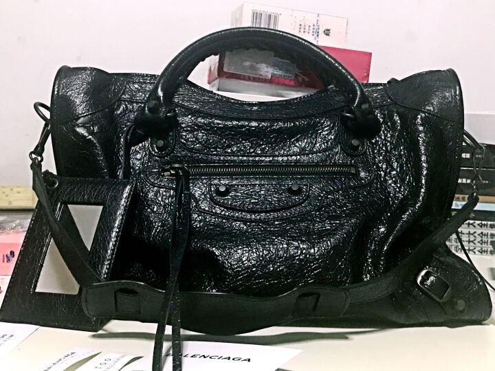 BALENCIAGA/巴黎世家 女士黑色羊皮 CLASSIC CITY BAG时尚手袋 黑色 均码 晒单图