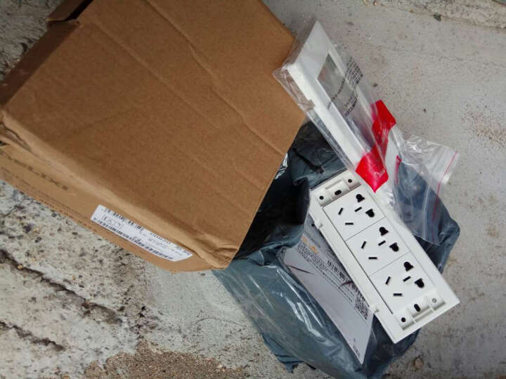 德力西开关插座面板86型雅白网线插座电脑插座五类网络信息插座 晒单图