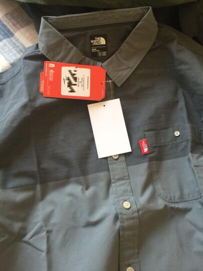 TheNorthFace北面夏季轻薄户外休闲男长袖衬衫 2SK9 0C5/深灰色 L 晒单图
