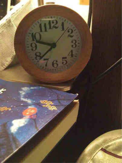 T-LAB'S  创意木头夜光静音闹钟 卧室床头钟 贪睡懒人小闹钟 实木花纹 晒单图