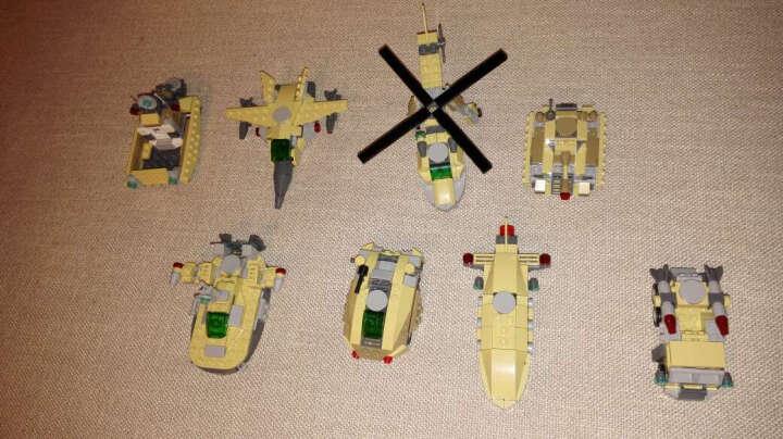 古迪儿童积木组装拼装拼插拼图变形玩具金刚机器人大黄蜂擎天柱飞机模型兼容乐高男孩益智玩具新乐新 陆地战豪八合一 晒单图