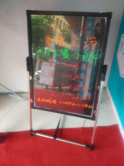 浙晟(zhesheng)LED电子荧光板支架式黑板显示广告板发光字留言板手写字板展示牌立牌 V支架+粗笔+配件 50*70cm 晒单图
