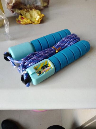 正昕(ZHENG XIN) 计数跳绳儿童学生中考成人比赛可调节跳绳健身运动绳子家用室内体能训练 蓝色 晒单图