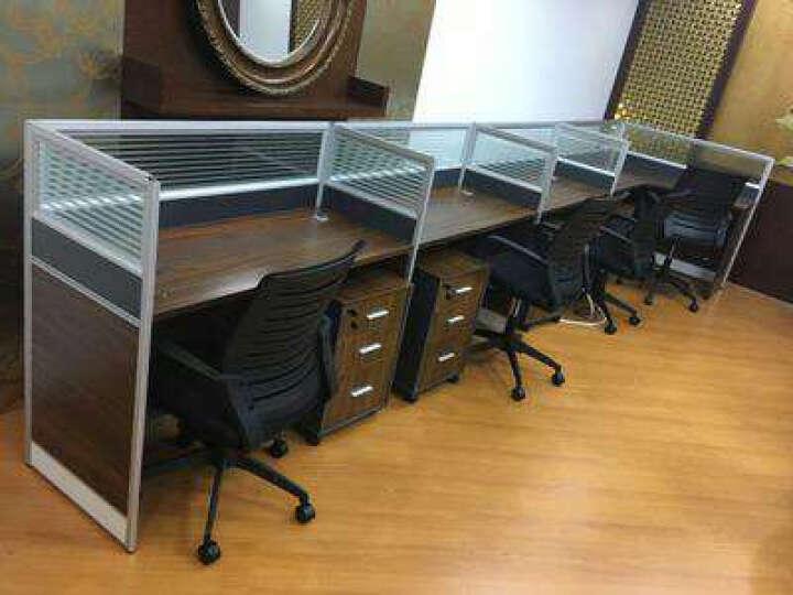 诩弈 现代简约上海办公家具 4人组合办公桌 屏风 隔断工作位 卡位职员桌 主机键盘托 不含椅 晒单图
