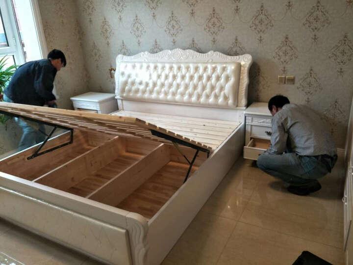 林中漫步 实木床 双人床 1.8米1.5米单人白色公主床架 2米简欧式软包皮床储物家具 简易框架床 1.5*1.9(象牙白) 晒单图
