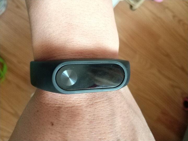 天气不错 小米手环2代替换腕带2条装 适合小米智能心率手环2 运动腕带 非原装 黑色+蓝色 晒单图
