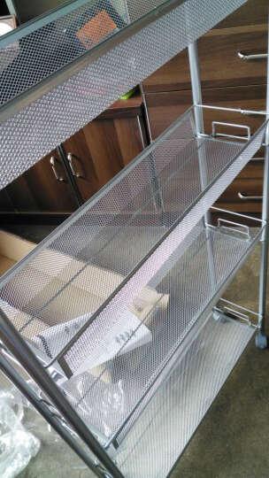 心家宜 网篮夹角置物架 缝隙推车 冰箱缝收纳架 厨房储物架层架 银灰色55*15*105cm 晒单图