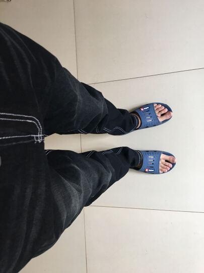 奈诗伊人 牛仔裤男修身2018春装新款小脚韩版休闲商务长裤 黑色加绒 34 晒单图