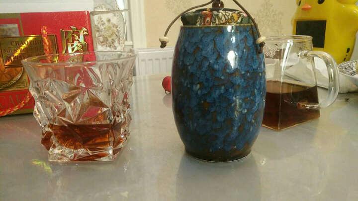 添尚 茶叶罐 陶瓷窑变茶具醒茶罐 密封储蓄罐红茶普洱茶罐 款式1窑变茶叶罐-藏蓝 晒单图