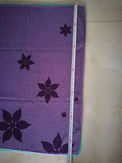 哈他瑜伽铺巾 硅胶防滑瑜伽垫毯子 加厚吸汗健身毯 蓝色(送收纳包) 晒单图