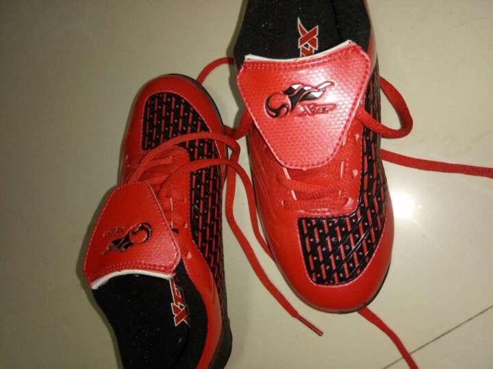 特步童鞋儿童足球鞋耐磨男童烽火足球运动鞋986415189557 兰黄 31码 晒单图