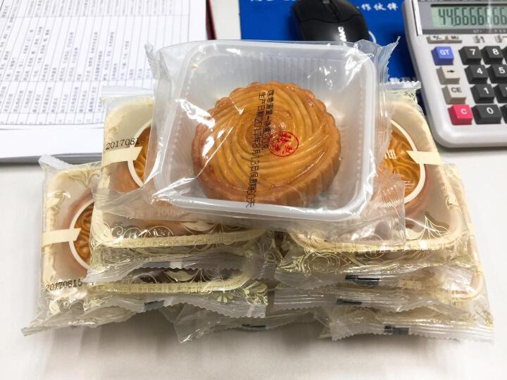 张赵君 手工传统糕点心广式月饼伍仁豆沙水果味中秋节食品休闲零食无礼盒100gX8个包邮 哈密瓜 晒单图