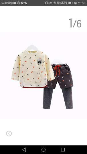 齐齐熊(ciciibear) 婴儿套装秋装新款男女宝宝衣服印花假两件外出服两件套 单色 90cm建议身高84-90cm 晒单图