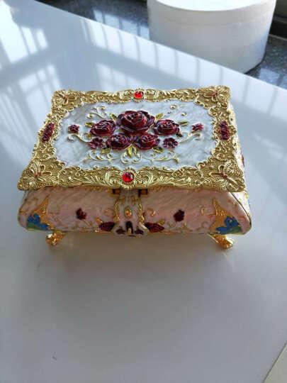 俄罗斯彩锡首饰盒欧式立体雕花珠宝盒方形新款蝶恋花系列首饰盒子 款式三 大号 晒单图