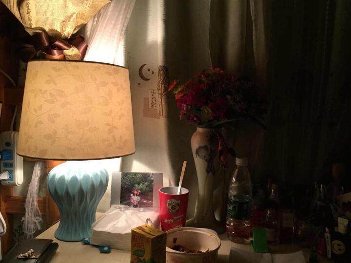 络曼(LUOMAN)美式陶瓷台灯卧室床头灯现代简欧式田园装饰礼品礼物创意定制节日装饰台灯 晒单图