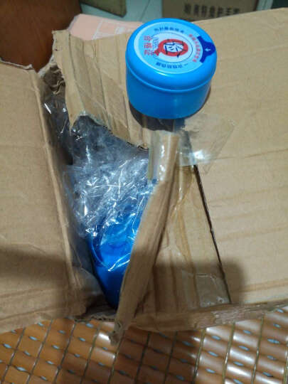 桶装水桶一次性压口盖子大桶水桶盖纯净水桶聪明盖 高端白色带防伪撕口 100个 晒单图