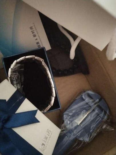 瑞诺 免费刻字磁石男士手链男钛钢手环日韩版潮男情人节送男友 盔甲黑色宽款-21cm 晒单图