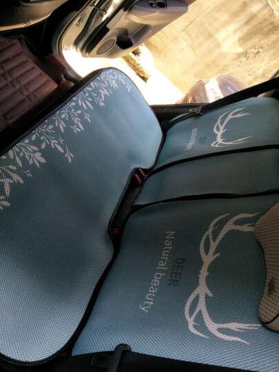 紫风铃汽车坐垫夏季四季单片冰丝3D立体汽车座垫单张方垫前排坐垫可爱卡通无靠背车垫汽车座套车垫 三件套-恐龙鼠 晒单图