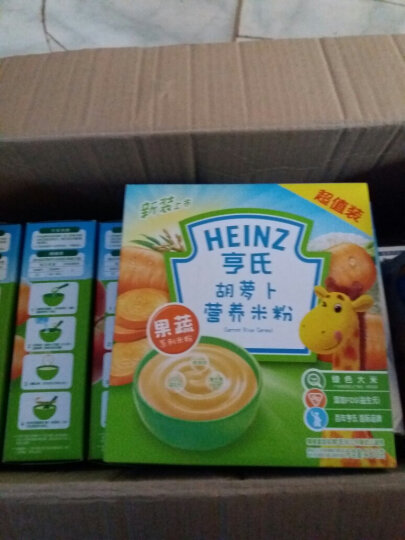 亨氏 (Heinz) 宝宝辅食 婴儿米粉 铁锌钙奶营养米粉超值装 (辅食添加初期-36个月适用)400g 晒单图