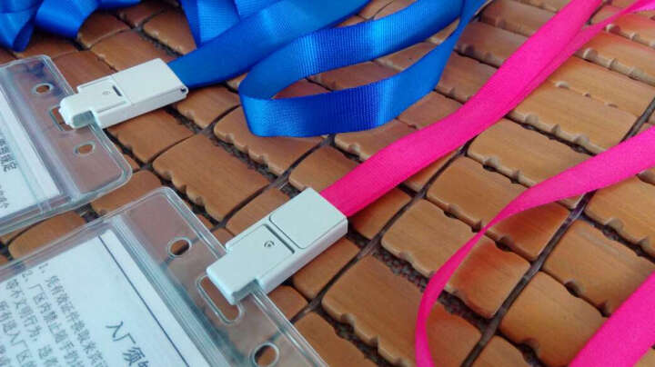 优和(UHOO)可定制证件卡套挂绳商务工作卡绳 胸卡吊绳工作证件员工牌、玫红12根/包 6712 晒单图