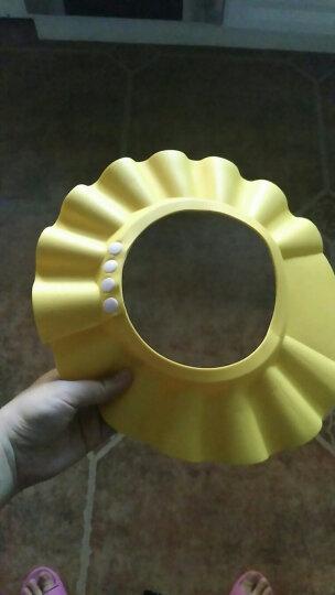 贝贝凯 婴儿洗脸盆 宝宝浴帽  新生儿浴勺洗头洗澡洗脸用品 浴帽--黄色 晒单图