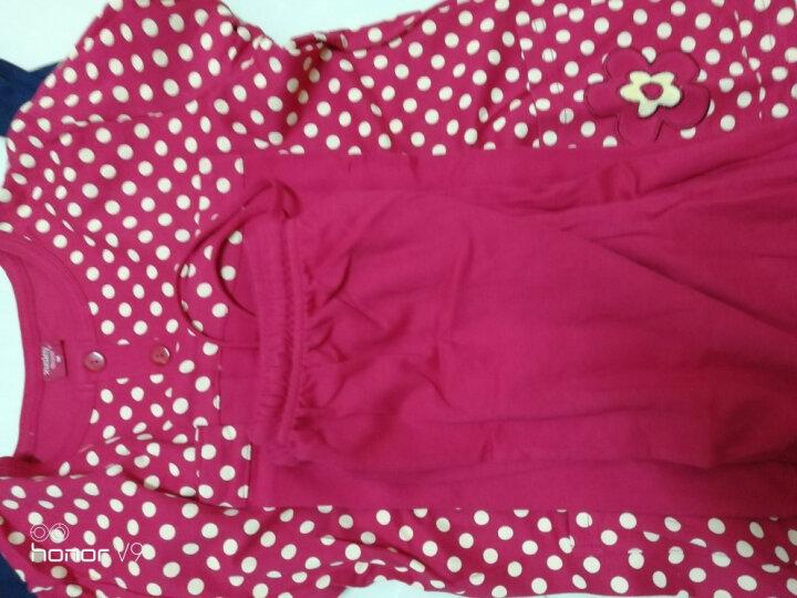 雪仙丽家居服女秋季长袖全棉休闲韩式睡衣套装可外穿 粉红色 L 晒单图