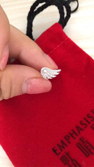 周生生点睛品 18K金耳钉白色黄金钻石天使翼耳环单只耳钉女款  89068E订制订金 晒单图