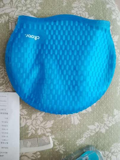 希途(Citoor) 游泳帽长发防水硅胶男女士加大泡泡水滴护耳帽子C2Y17 浅蓝色 晒单图