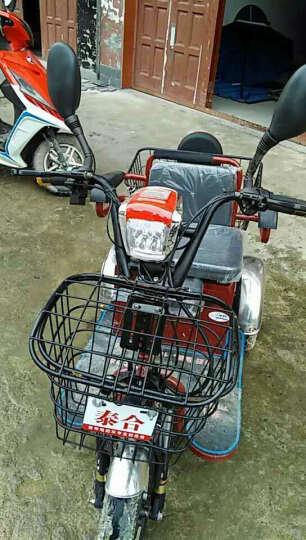 泰合 双人电动三轮车老年代步车老人电动代步车三轮电动车 106-8差速电机 电动车48v20安铅酸电池 晒单图