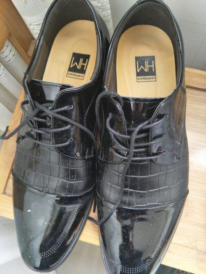 HENRYMAKER春夏男鞋休闲鞋男士英伦系带商务休闲皮鞋棉鞋正装鞋婚鞋鞋子男HM8015 黑色HM8015 42 晒单图