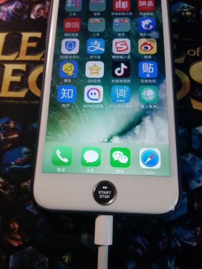 来无忧 苹果按键贴iphone6plus按键贴苹果7指纹贴识别6S手机5S金属home键4 小胡子(白底+黑边) 晒单图