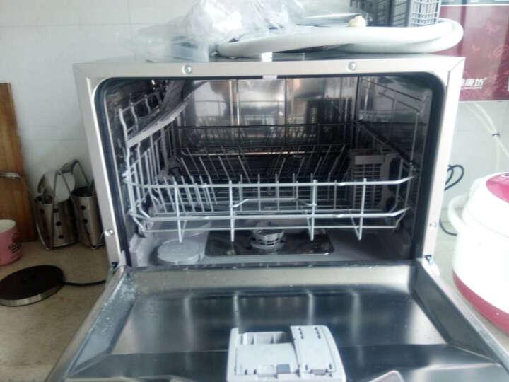 西门子(SIEMENS) SK23E810TI 进口台式洗碗机家用全自动迷你小型 6套 银色 晒单图