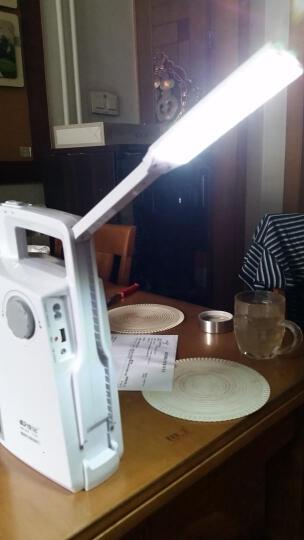 康铭LED充电式家用应急灯消防停电照明灯夜市地摊灯太阳能手提灯 8000mAh-红色 晒单图