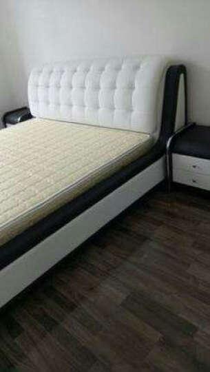 佐丽雅真皮床软床双人床现代简约床主卧榻榻米婚床 单床+2柜+9分区椰棕床垫 1800*2000框架床 晒单图