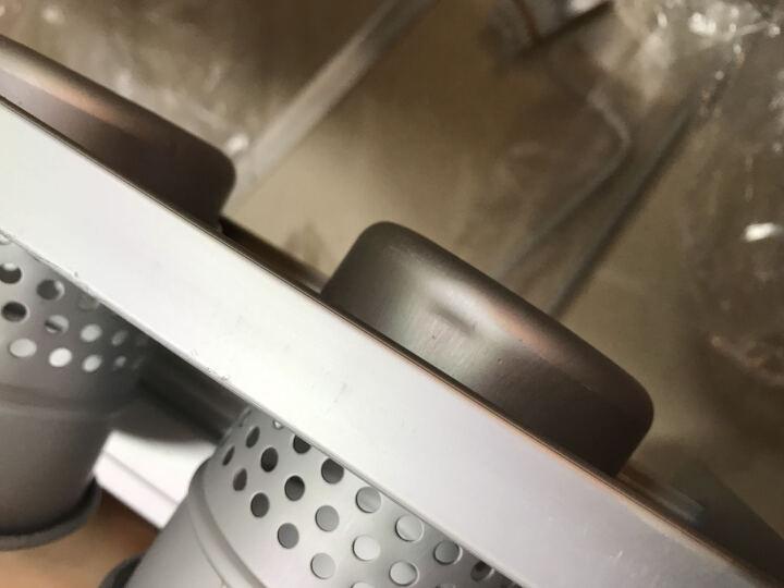 吉得利 太空铝调料架 哑光壁挂厨房置物架 60CM双杯铝边带护栏 晒单图