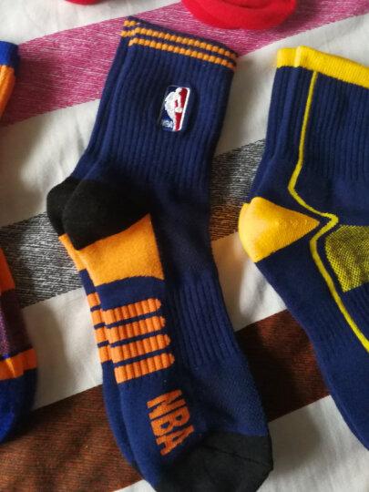 NBA袜子 球队款男士中筒防滑运动篮球袜 科比詹姆斯库里 精梳棉吸湿透气 四季款 火箭队 白色 N16BZSK1004 39-44码 晒单图