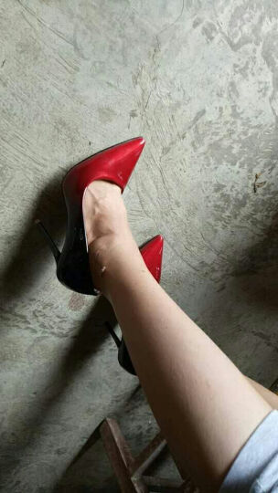Clio Muses2017春夏新款性感细跟高跟鞋 女鞋OL防水台职业浅口高跟女单鞋 银色 38 晒单图