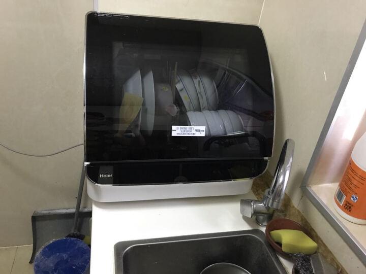 海尔(Haier) 海尔(Haier)小海贝台式洗碗机(透明视窗) 全自动家用洗碗机 台式鎏金黑小贝  HTAW50STGB 晒单图
