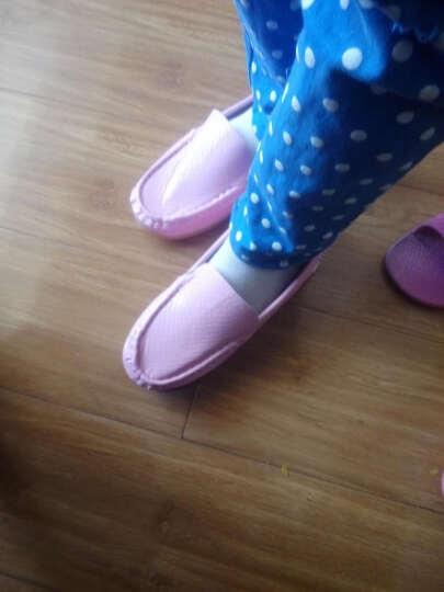 圣琦米姿春秋款儿童豆豆鞋男女童公主鞋宝宝单鞋 新款小孩皮鞋学生童鞋潮 粉红 32码/内长19.9cm 晒单图