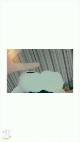 贝士 韩国可爱卡通搞怪童趣超大眼睛束发带洗脸化妆发带发箍发圈猫咪兔耳朵卡通发饰头饰配饰品 420紫色条纹 晒单图