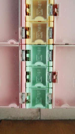 云野SMD电子元器件盒 零件盒迷你工具盒 元件收纳盒翻盖方便 外3CMx2.5CMx2CM 贴片组合式元件盒 绿色 一个 晒单图